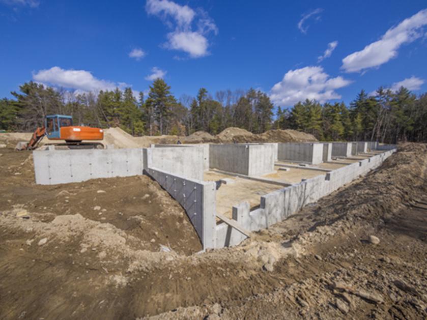 Wände aus Beton für den Hausbau